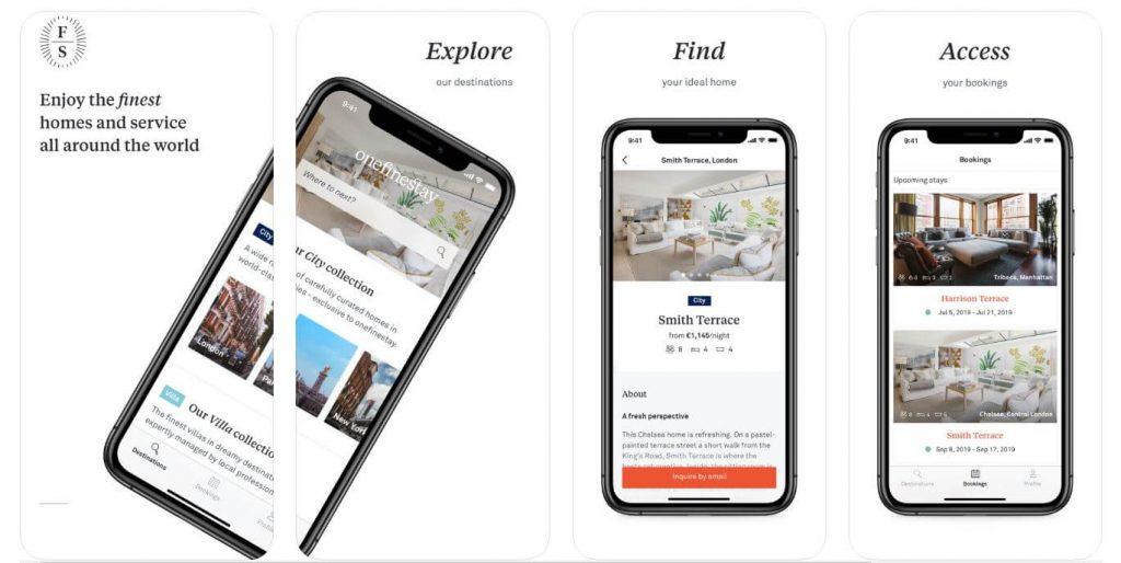best travel app - onefinestay